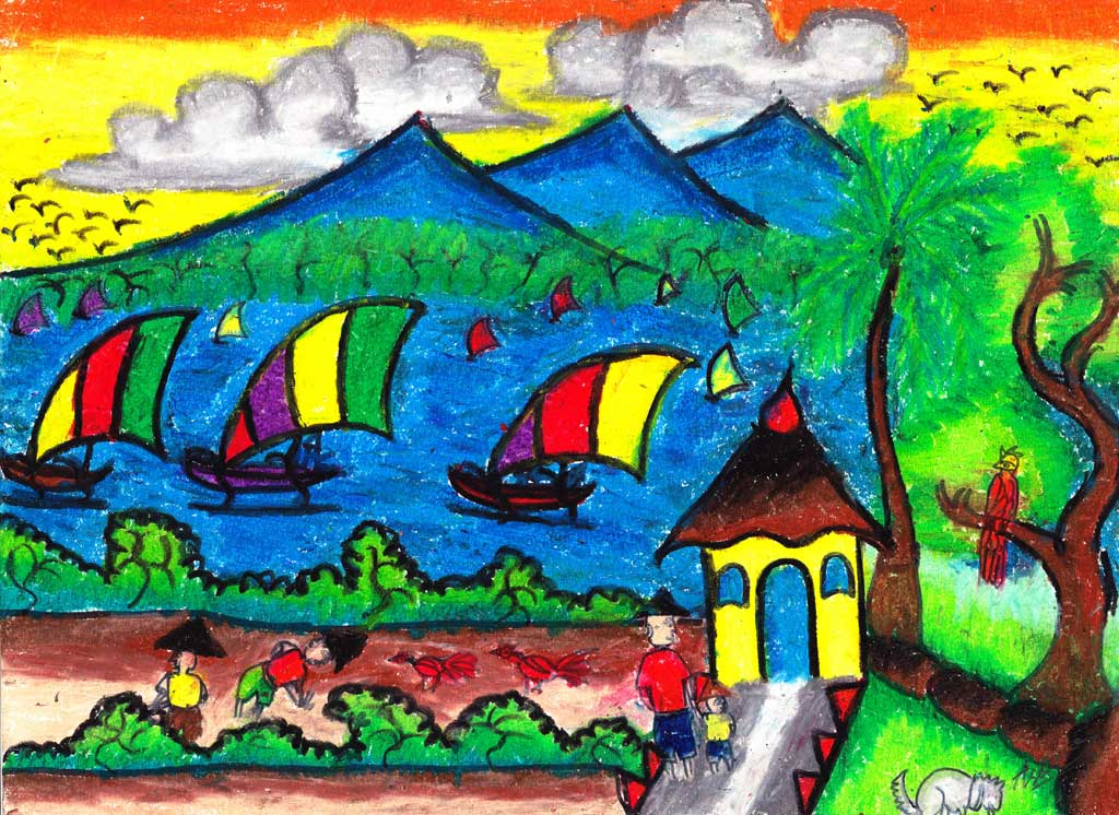 Conservation Painting Competition On Nusa Penida Friends