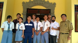Four scholarships delivered to students of SMK Nusa Penida.