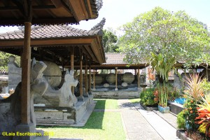 A row of ancient sarcophagi in the nearby Prehistory Museum of Bali.