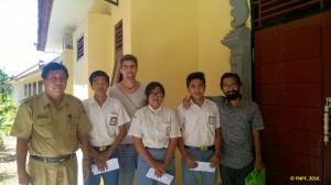 Three Scolarships were delievered to SMK Nusa Penida.